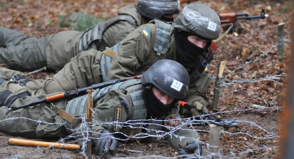 Przygotowanie piechoty Gwardii Narodowej Ukrainy