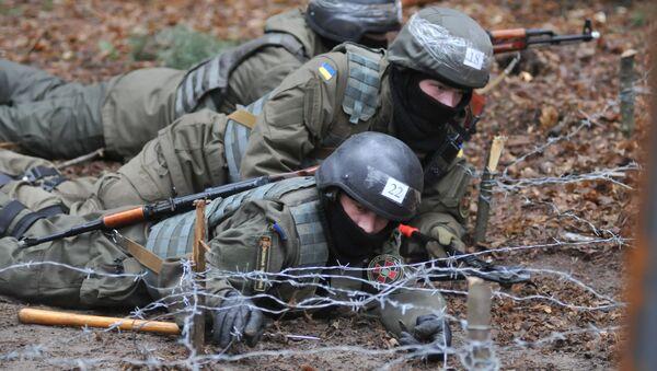 Przygotowanie piechoty Gwardii Narodowej Ukrainy - Sputnik Polska
