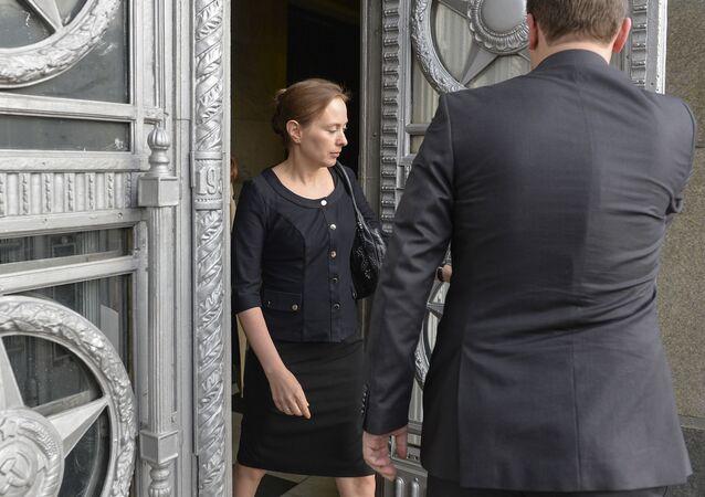 Ambasador Polski w Moskwie Katarzyna Pełczyńska-Nałęcz w MSZ Rosji