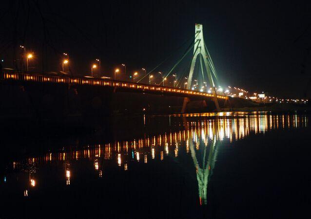 Most Moskiewski na Dnieprze w Kijowie