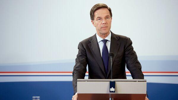 Premier Holandii Mark Rutte - Sputnik Polska