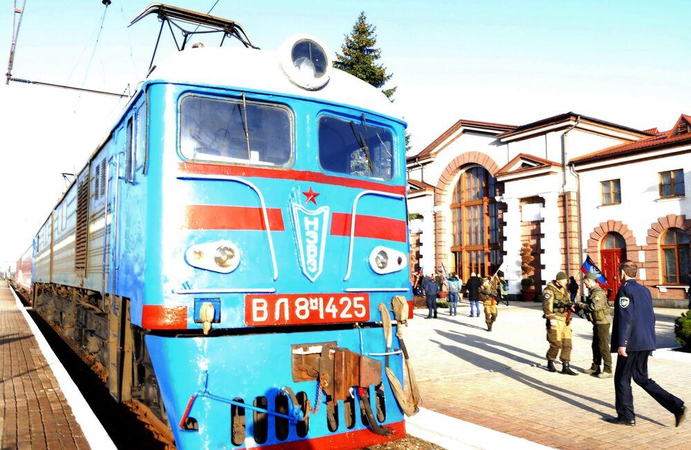 Pociąg pasażerski jadący do granicy z Rosją