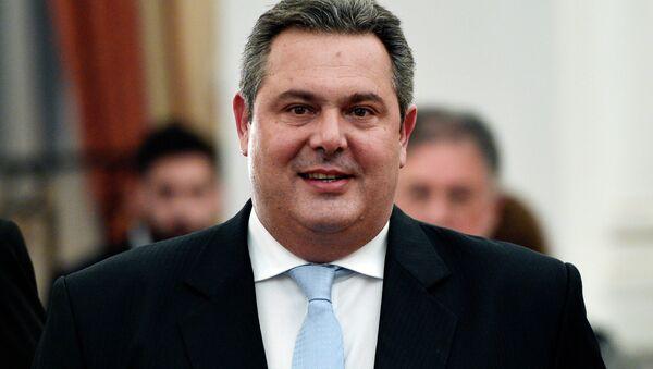 Szef Ministerstwa Obrony Grecji Panos Kammenos - Sputnik Polska