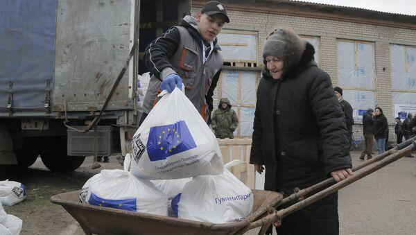 Unijna pomoc humanitarna dla Ukrainy - Sputnik Polska
