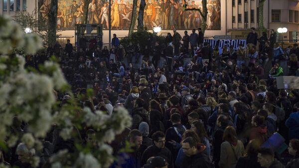 Protesty w Paryżu przeciwko reformie prawa pracy - Sputnik Polska