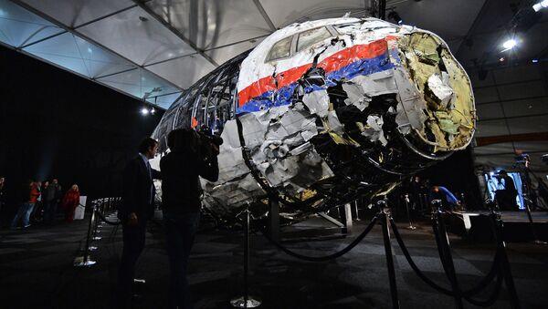 Prezentacja raportu ws. okoliczności katastrofy samolotu Boeing 777 Malaysia Airlines w Holandii - Sputnik Polska