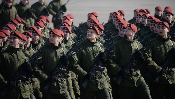 Żołnierze Oddzielnej Dywizji Operatywnego Przeznaczenia wojsk wewnętrznych MSW Rosji - Sputnik Polska