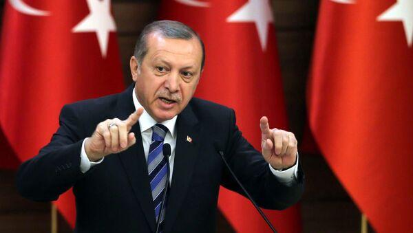 Prezydent Turcji Recep Tayyip Erdogan w Ankarze - Sputnik Polska