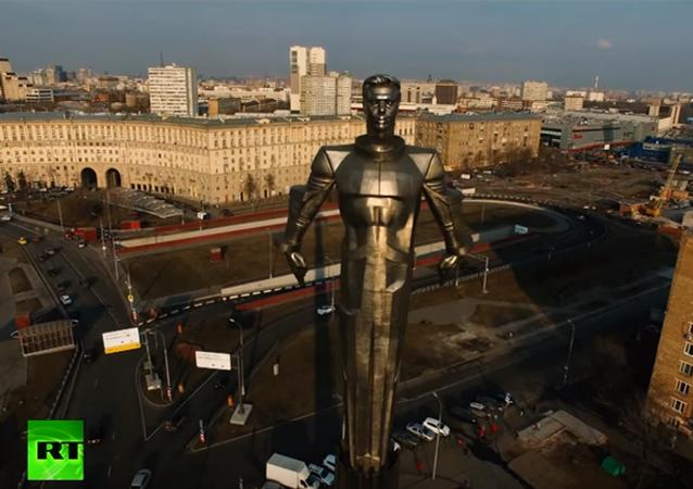 Pomnik Gagarina w Moskwie