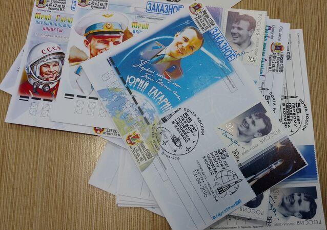 Jurij Gagarin znaczek pocztowy