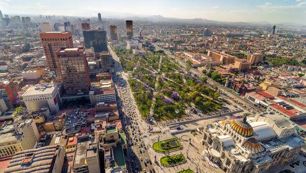 Вид на центр города Мехико, Мексика - Sputnik Polska