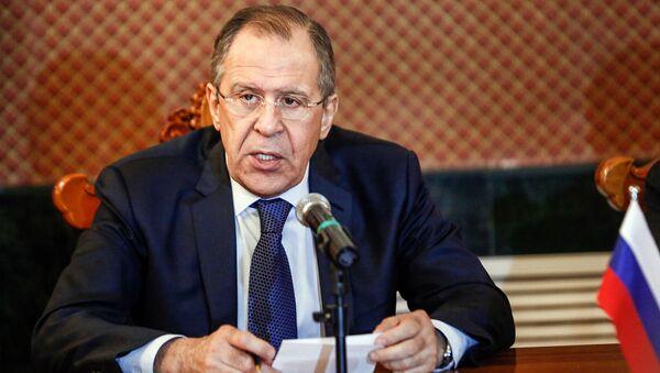 Minister spraw zagranicznych Rosji Siergiej Ławrow na spotkaniu z ministrem spraw zagranicznych Mongolii Lundengiynom Purevsurenem - Sputnik Polska