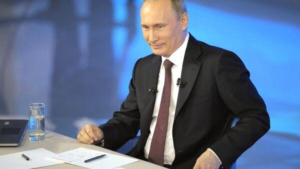 Gorąca linia z Władimirem Putinem, 17 kwietnia 2014 - Sputnik Polska