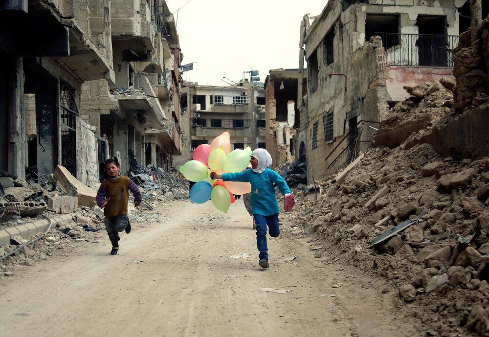 Dzieci na ulicach Damaszku