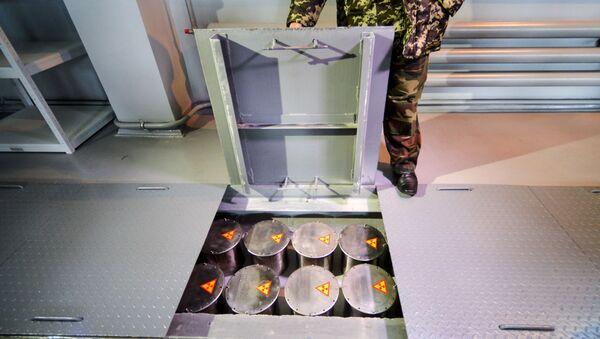 Kontenery dla przechowywania odpadów radioaktywnych - Sputnik Polska