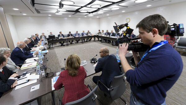 Spotkanie specjalnego wysłannika ONZ do Syrii Staffana de Mistury i Wysokiego Komitetu Negocjacyjnego w Genewie - Sputnik Polska