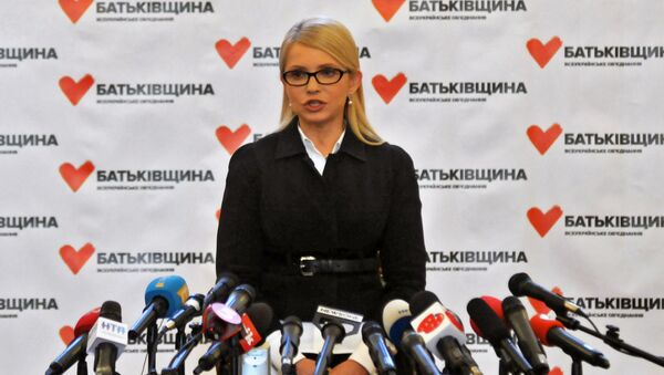 Konferencja prasowa Julii Tymoszenko we Lwowie - Sputnik Polska