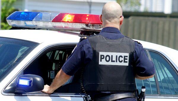 Policjant przy samochodzie - Sputnik Polska