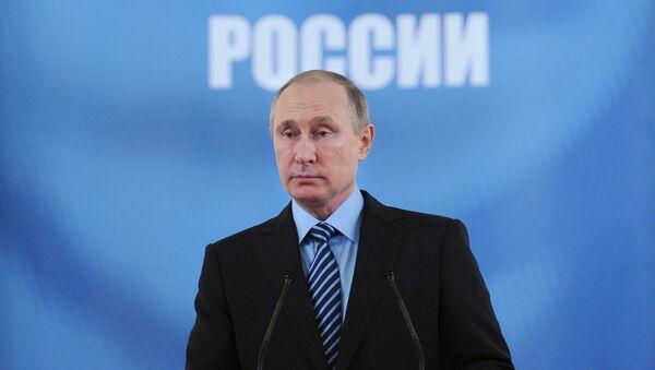 Prezydent Rosji Władimir Putin podczas przemówienia na zjeździe rosyjskich inżynierów - Sputnik Polska