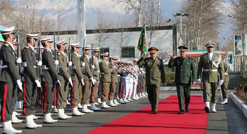 Minister obrony Rosji Siergiej Szojgu i szef irańskiego resortu obronnego Hossein Dehghan
