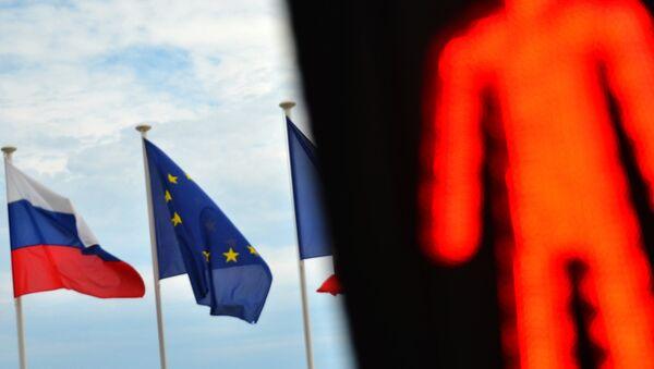 Flags of Russia, EU and France - Sputnik Polska