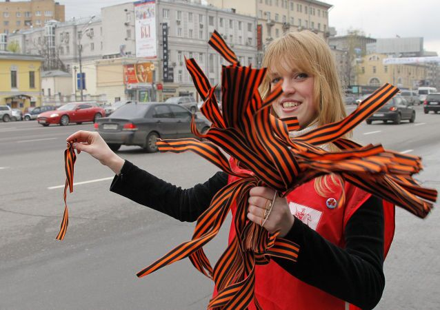 Акция Георгиевская ленточка в Москве