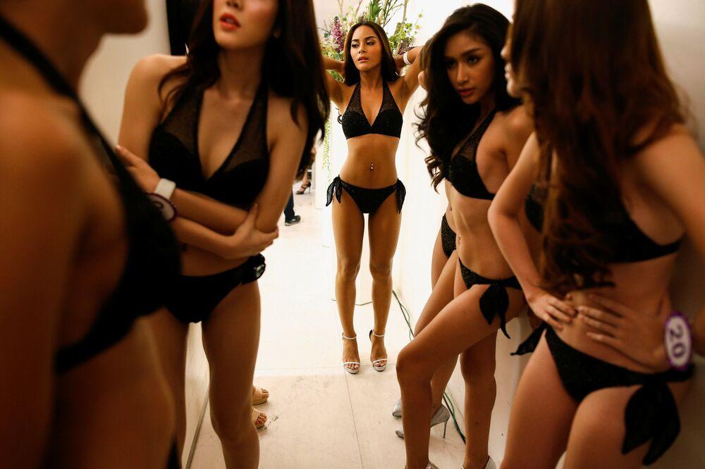 Modelki przed Miss Tiffany's Universe 2016 w Bangkoku