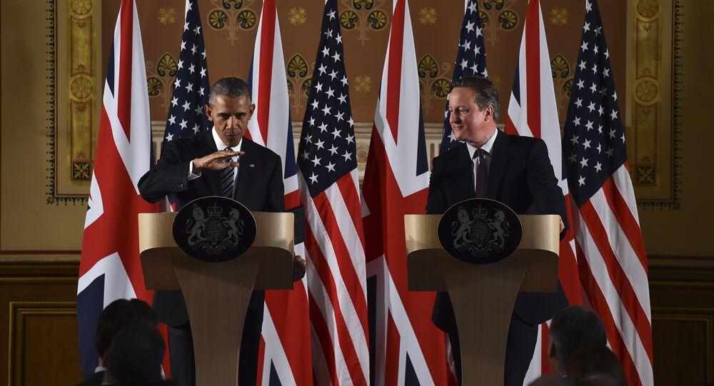 Prezydent USA Barack Obama i premier Wielkiej Brytania David Cameron