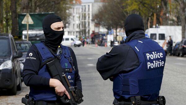 Policja na ulicach Brukseli - Sputnik Polska