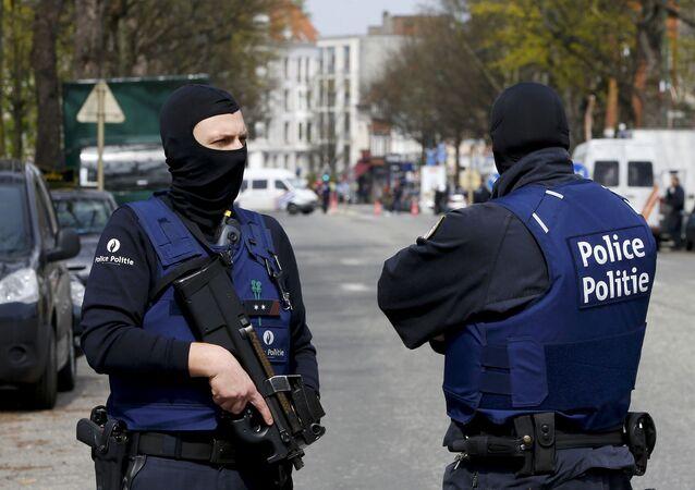 Policja na ulicach Brukseli