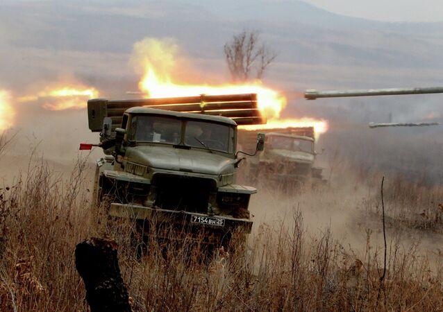 Ćwiczenia artylerii rakietowej