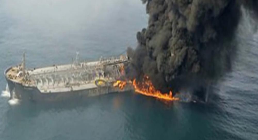 Pożar rosyjskiego tankowca na Morzu Kaspijskim