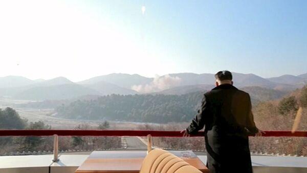 Przywódca Korei Północnej Kim Dzong Un - Sputnik Polska