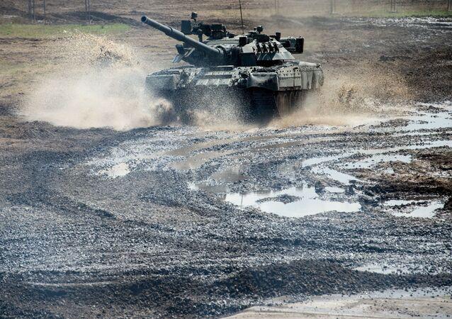 Czołg T-80 w obwodzie moskiewskim