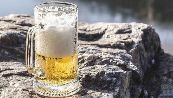 Kufel piwa na kamieniu - Sputnik Polska