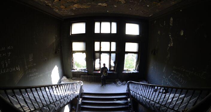 Dom Związkowców Zawodowych w Odessie, w którym 2 maja doszło do tragedii