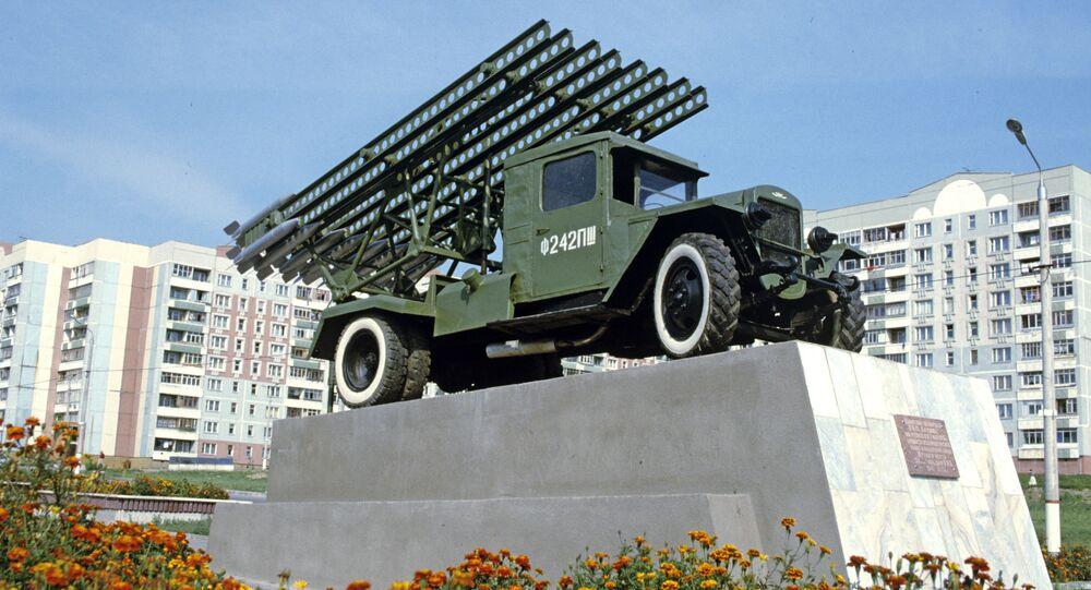 Pomnik na cześć pierwszej wyrzutni rakietowej Katiusza