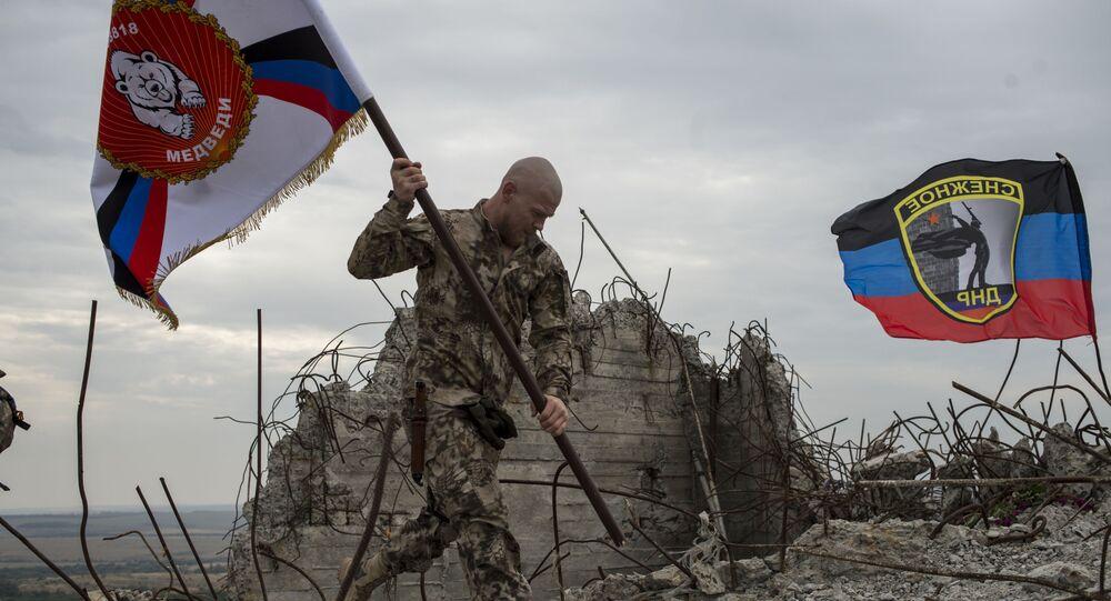 Uroczystości na szczycie Sawur-Mohyła z okazji 72. rocznicy wyzwolenia Donbasu spod okupacji niemieckiej