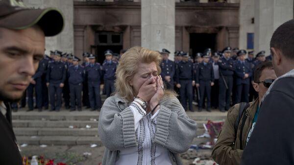 Dom Związków Zawodowych w Odessie po tragicznych wydarzeniach z 2 maja 2014 r. - Sputnik Polska