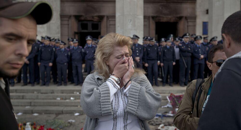 Dom Związków Zawodowych w Odessie po tragicznych wydarzeniach z 2 maja 2014 r.