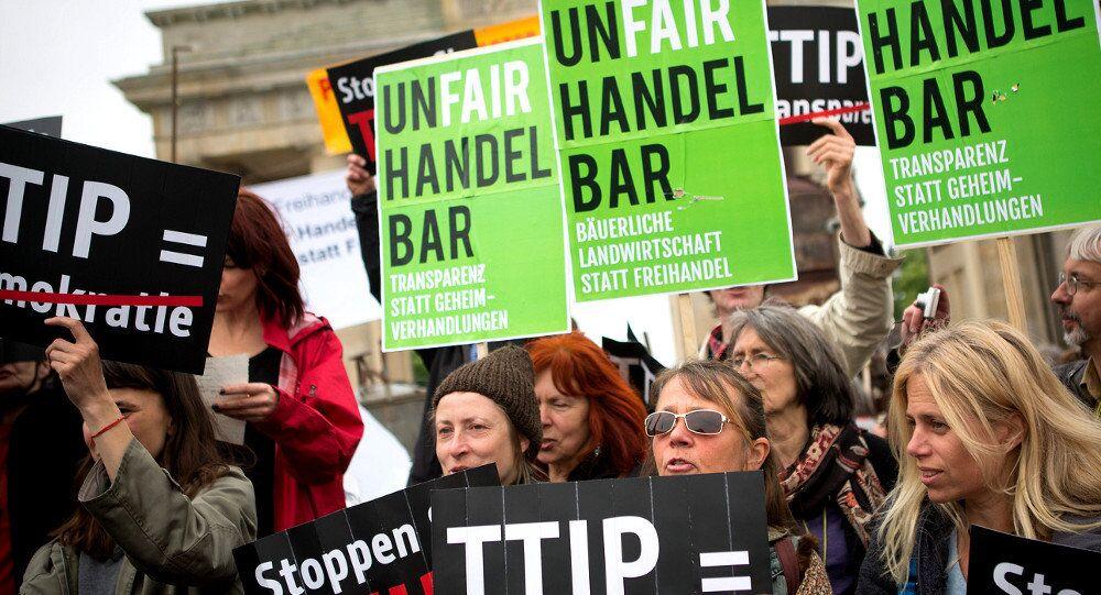 Demonstracja w Niemczech przeciwko TTIP