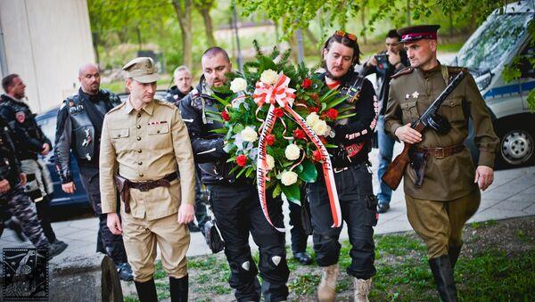 Nocne Wilki uczcili w Polsce pamięć radzieckich żołnierzy - Sputnik Polska
