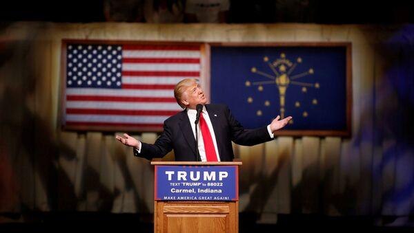 Donald Trump w stanie Indiana - Sputnik Polska
