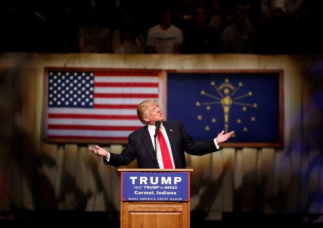 Donald Trump w stanie Indiana