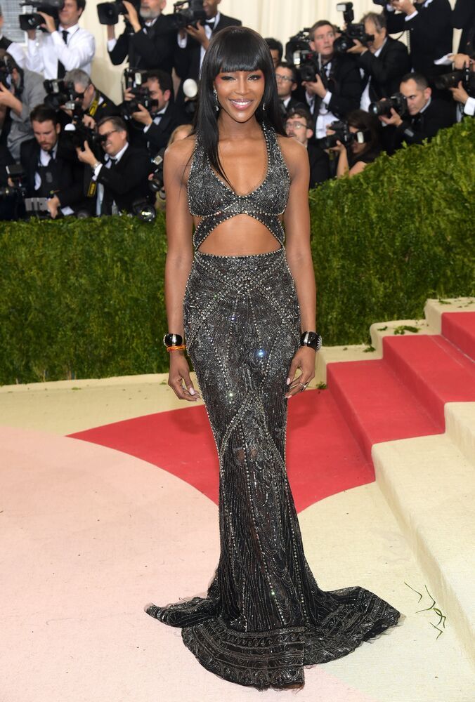 Modelka Naomi Campbell na Met Gala, Nowy Jork, 2 maja 2016