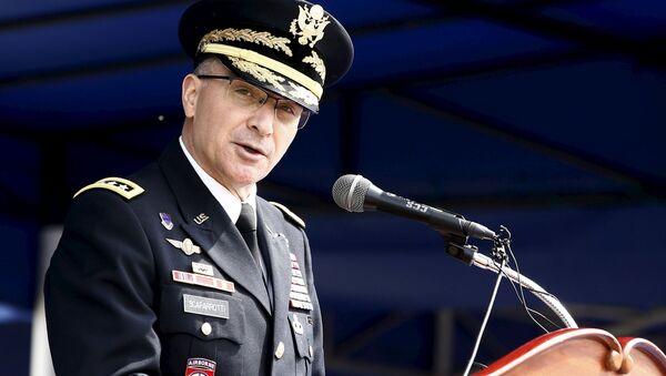 Naczelny dowódca Połączonych Sił Zbrojnych NATO w Europie amerykański generał Curtis Scaparrotti - Sputnik Polska