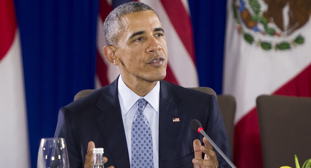Prezydent USA Barack Obama na spotkaniu szefów TPP
