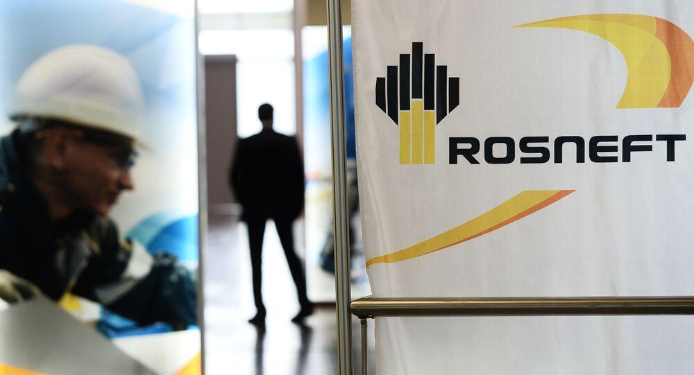 Logo rosyjskiego państwowego koncernu Rosnieft