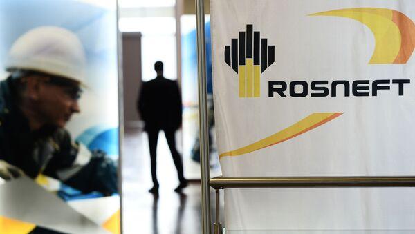 Logo rosyjskiego państwowego koncernu Rosnieft - Sputnik Polska