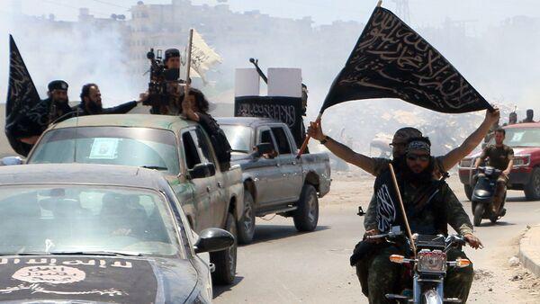 Bojownicy z Frontu al-Nusra - Sputnik Polska